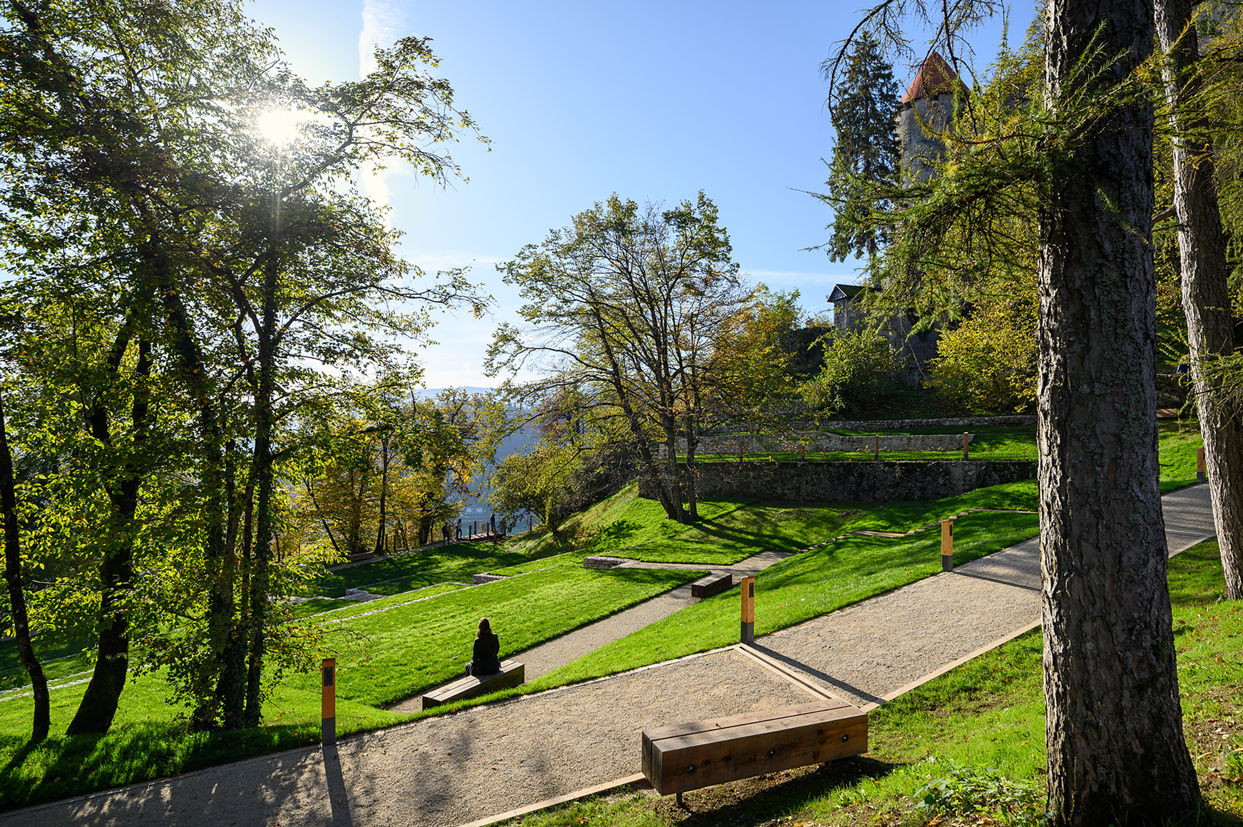 bruto bled grad jezero lake castle grajski park