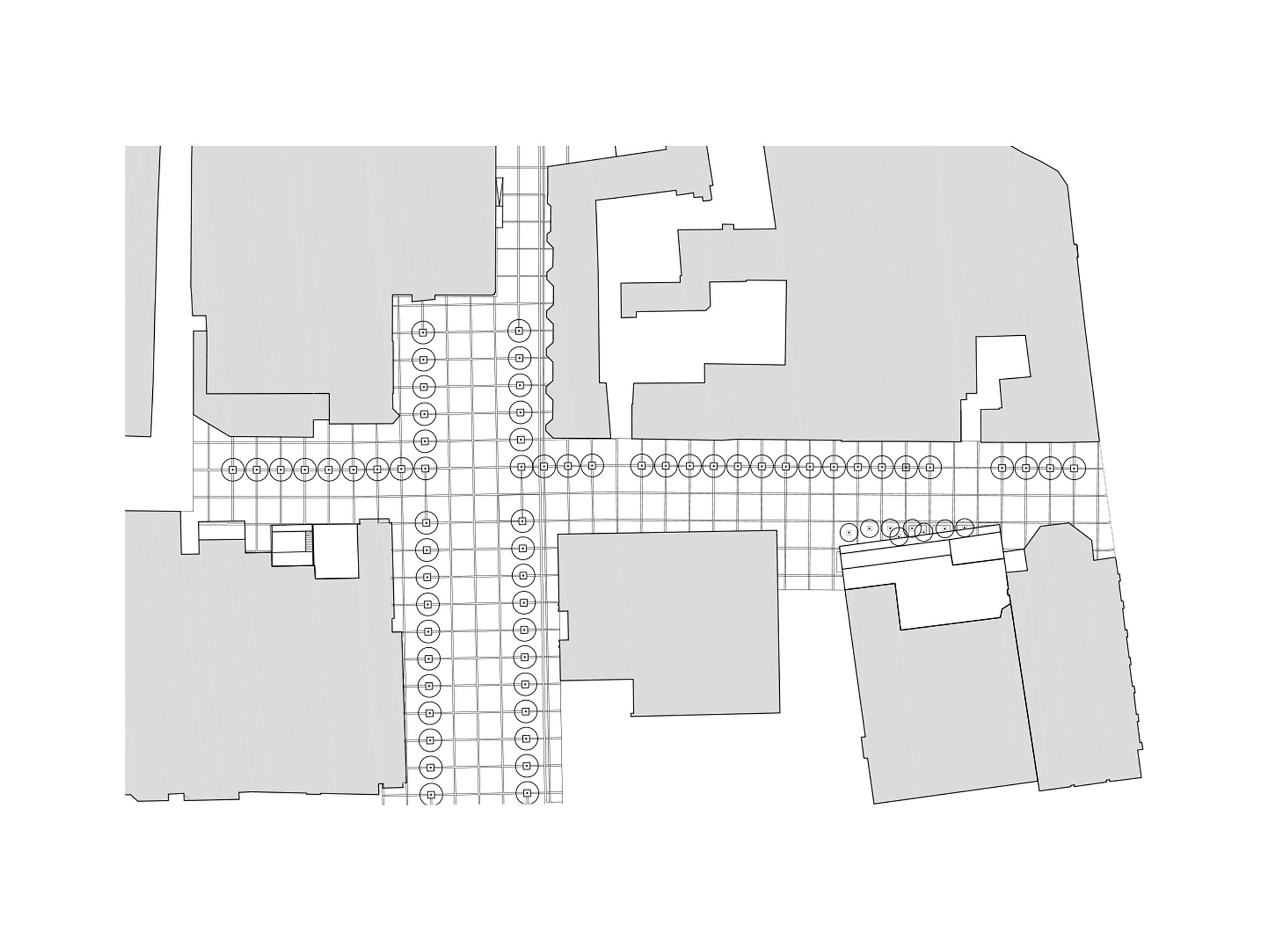 trg leon stukelj maribor bruto square urban tree line drevored tloris plan